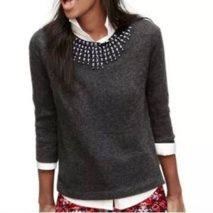 J. Crew Jeweled Starburst Statement Sweater